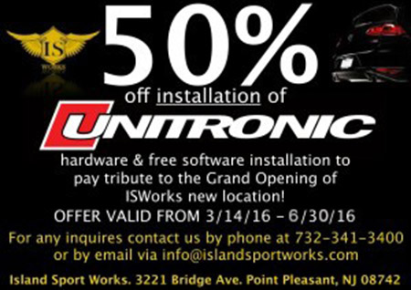50% Off Installation Unitronic
