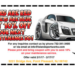 Roses are red…  10% Off Your Maintenance Service